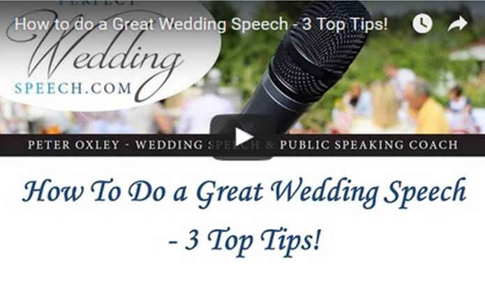 How to do a GREAT Wedding Speech – 3 Top Tips