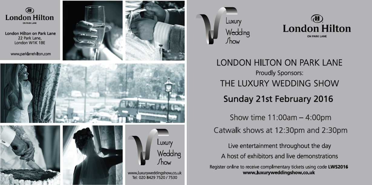 Come and See Me at the Luxury Wedding Show!